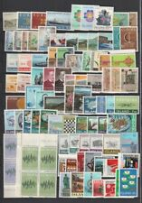 Iceland 1963-1977 Page of MNH Sets, Part Sets CV $89.40