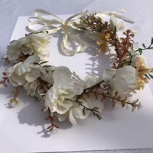 Headband Wedding Floral Crown Boho Wreath Bridal Headpiece