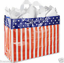 AMERICAN FLAG FROSTY REUSABLE BAG! FREE SHIP! NEW! RECYCLE! RED~WHITE~BLUE~NEW!
