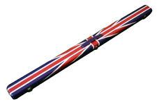 3/4 UNION JACK FLAG DESIGN LEATHER SNOOKER CUE CASE