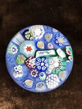 John Deacons End Of Day Complex Millefiori Canes Signed Dated Paperweight