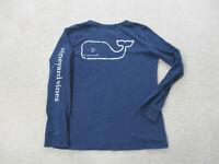 Vineyard Vines Long Sleeve Shirt Womens Extra Small Blue White Whale Ladies