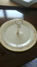 """Lenox China 11"""" Holiday Holly Pattern Berries Gold Cake Cookie Plate Dish New!"""