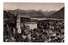 Switzerland - Thun und die Alpen - Vintage Real Photo Postcard