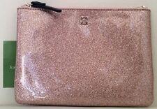 BUY IT NOW...NWT Kate Spade Mavis Street Rose Gold Mini Glitter Pouch