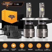Auxbeam 9003 H4 HB2 CREE LED Headlight Bulbs Hi Low Beam 70W 8000LM 6000K White
