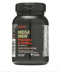 GNC Mega Men Prostate and Virility 90 Caplets New Sealed Comes with Box