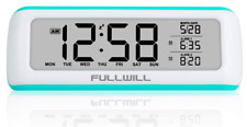FULLWILL Digital Alarm Clock With Dump Auto-Off Function 12/24 Snooze Backlight