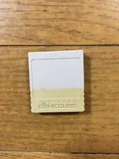 Official OEM GameCube Memory Card White Grey Gray Nintendo NGC GCN