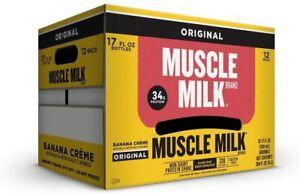 Muscle Milk Original Shake | 34g Protein, Non Dairy, 17 oz | Banana Crème, 12 ct