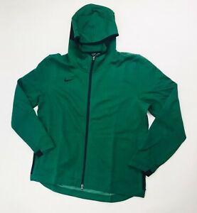Nike Showtime Hoody Full Zip Basketball Jacket Men's XL Green Black 930561