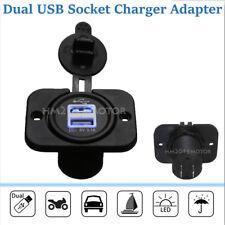Car Auto Truck Boat Blue LED 12V&24V Dual USB Charger Backlit UTV Rocker Switch