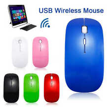 NEW Wireless Cordless Mouse Optical Scroll 2.4GHz For PC Laptop Computer USB Uk