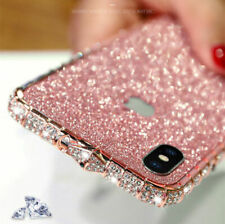 Bling Diamond Metal Bumper Case Glitter Sticker Fit iPhone X XS Max 7 8 Plus New