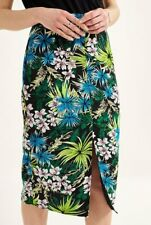 Long Tall Sally Tropical Split Front Skirt Size UK 14 Dh087 CC 22