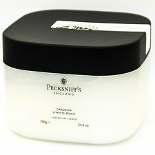 Pecksniff's Luxury Salt Scrub - Gardenia & White Peach 700g - Big Tub
