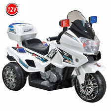 12V POLIZEI Elektro Motorrad Kindermotorrad Roller Kinderfahrzeug Dreirad GROSS