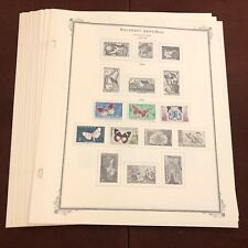 MALAGASY REPUBLIC 1958-69 SCOTT SPECIALTY Stamp Album Pages, Complete + Stamps