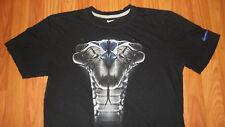 Used Mens NIKE athletic DRI-FIT Cobra Snake T-Shirt Medium sportswear sports