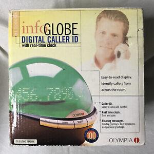 Olympia Info Globe Phone Digital Caller ID Scrolling Message Clock OL3000 GREEN