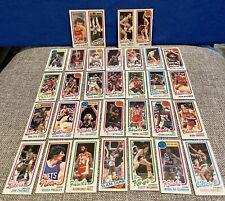 Lot (32) 1980 Topps Basketball NBA Gervin, Johnson, Cartwright, Davis, Buckner