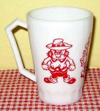 HTF Hazel Atlas Red Gulliver's Travels Child's Mug/Cup