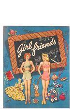 Vintage Uncut 1944 Girlfriends Paper Dolls Hd~Laser Org Sz Reproduction~Lo Pr