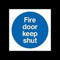Fire Door Keep Shut Sign, Sticker - All Sizes & Materials - Escape, Closed, Exit