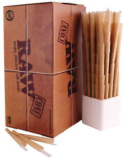 1000 Ct RAW Prerolled CONES Natural Classic Rolling Papers w Tips 98mm Special