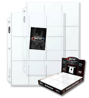 (100) 9 Pocket Pages - BCW Pro Box of Baseball Card Sleeves with Ultra Storage