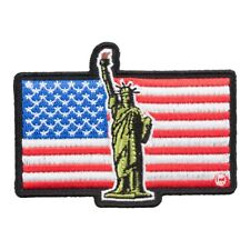 Lady Liberty American Flag Patch, Patriotic US Flag Patches
