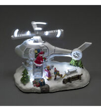 Konstsmide Fun Helicoptor SANTA Pilot Ornament Merry Christmas LED Lights