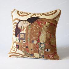 "Jacquard Weave Tapestry Pillow Cushion Cover Gustav Klimt - Embrace, 18""x18"", US"