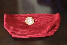 """Heritage Lace Mode Crochet Ruby Red Rectangle Basket 10""""x6""""x7"""" New"""