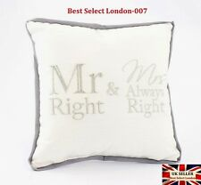 Mr and Mrs Always Right Mini Cushion Pillow Novelty Home Sofa - Lp28085