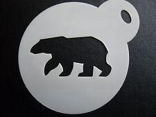 Découpe Laser petit ours polaire Design Gâteau, Cookie, craft & Face Painting Stencil