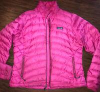 Patagonia Nano Puff Women's Primaloft Puffer Jacket Sweater Magenta Large FLAW!