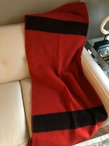 Comme Des Garcons Homme Oversized Red Wool Scarf / Throw Blanket
