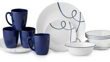 Corelle Livingware 16-piece Lia Swirls Dinnerware Set for 4 Free 2Day Ship New