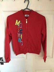 STUNNING GENUINE MOSCHINO GIRLS LONG SLEEVED RED JACKET/CARDIGAN AGED 12 YEARS