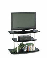 Slick Entertainment System TV Stand for Dorm Office Small Living Space upto 80lb
