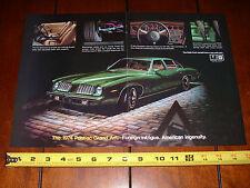1974 PONTIAC GRAND AM - ORIGINAL 2 PAGE AD