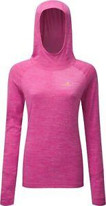 Ronhill Momentum Aerobic Womens Running Hoody Pink Thermal Long Sleeve Hoodie