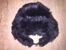 Dorothy Perkins Black Furry Trapper Hat Winter NEW £18