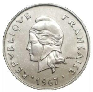 1967 French Polynesia 20 Francs Coin KM 6