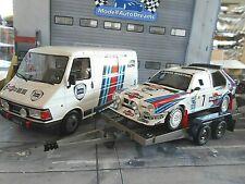 SET FIAT 242 Van + Lancia Delta S4 Rallye Toiv Monte Carlo + TRAILER Otto 1:18