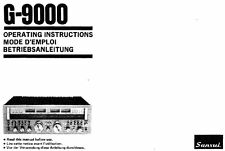 SANSUI G-9000 Pure Power DC ST Receiver operating instructions ENG Franc Deutsch