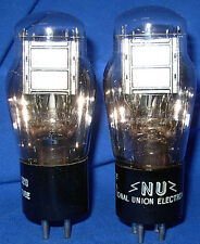 NOS / NIB Matched Pair National Union Type 26 Triode Vacuum Tubes