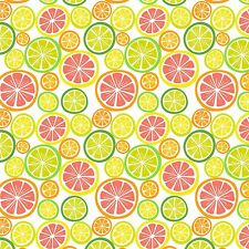 Printed Bow Fabric A4 Canvas Summer Citrus Fruits SM2 Make glitter bows