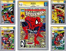 SPIDER-MAN #1-2-3-4-5 CGC-SS 9.2 AVG *ALL 5 SIGN ORIG ARTIST TODD MCFARLANE 1990